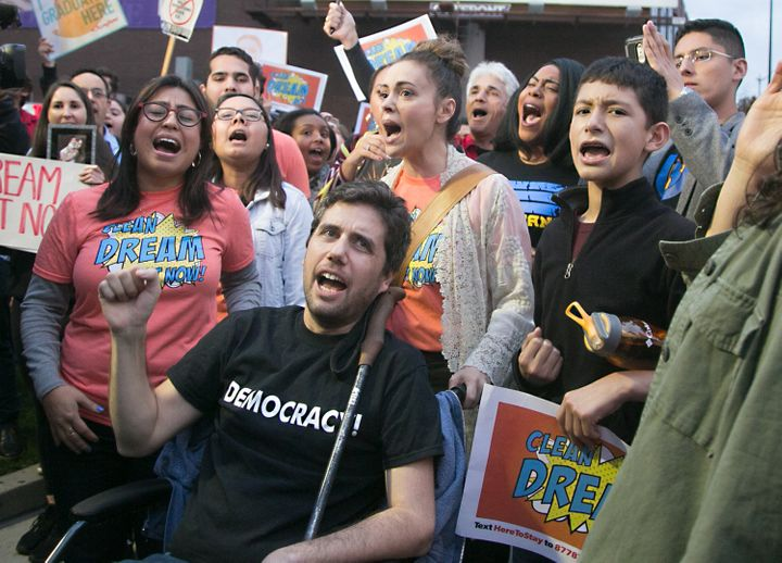 """Ady Barkan (center front) will now testify at the upcoming """"Medicare for All"""" hearing on Capitol Hill."""