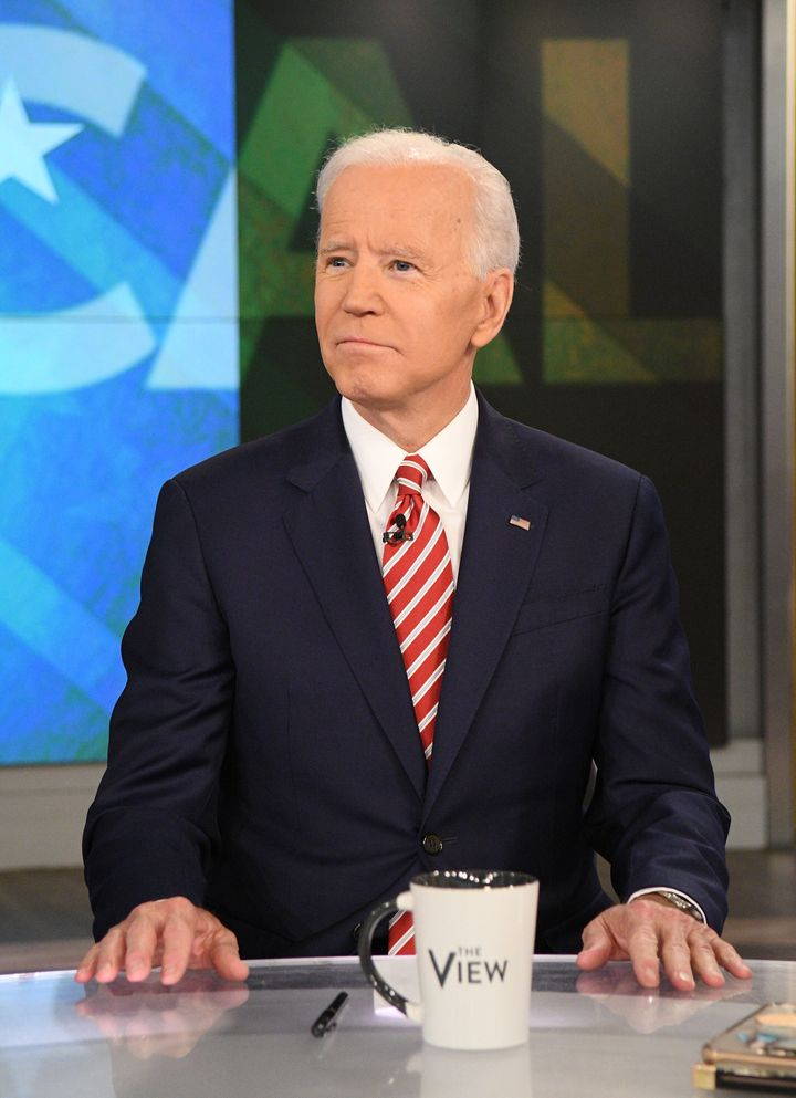 "Former Vice President Joe Biden appears on ""The View"" the day after announcing his 2020 presidential campaign."