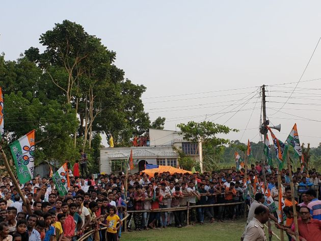 A glimpse of the crowd at Nusrat Jahan's meeting in