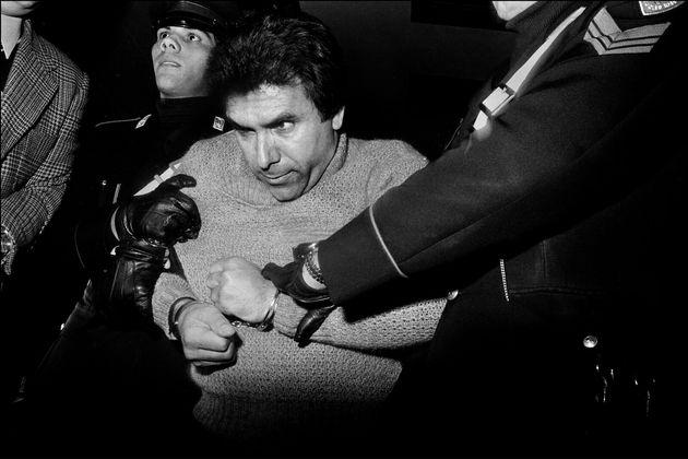 Fotografia da prisão do chefe mafioso Leoluca