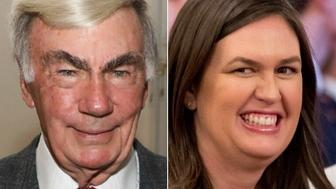 Sam Donaldson and Sarah Huckabee Sanders