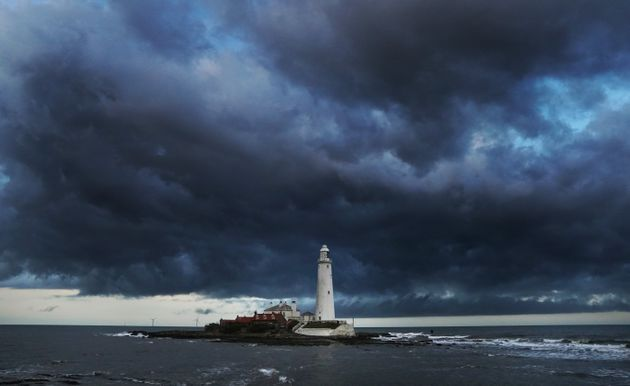 Clouds over St Marys Lighthouse in Whitley Bay. Weather forecasters have warned of gusts of up to 80mph...