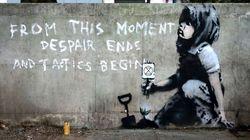 Un Banksy écolo découvert à