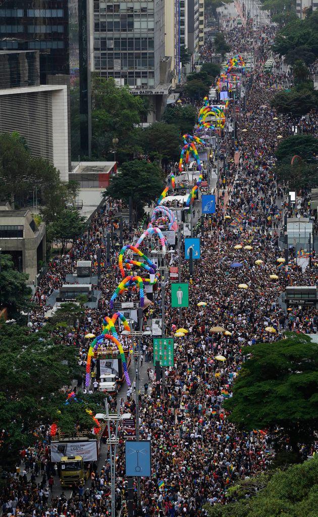 22ª edição da Parada do Orgulho LGBTQ+ realizada em São Paulo, em