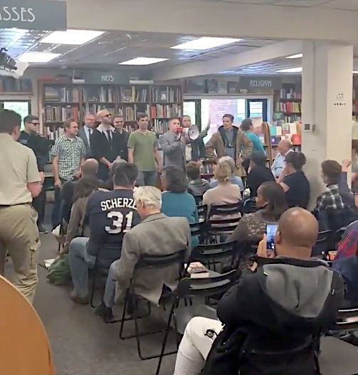 A group of white nationalists interrupted a reading at Prose and Politics bookstore in Washington D.C.