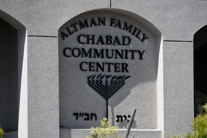 An exterior view of the Altman Family Chabad Community Center at the Chabad of Poway Synagogue in Poway, California. A 60-yea