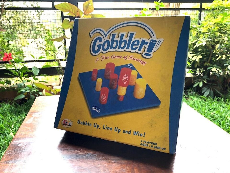 Gobblet Gobblers is a great, kid-friendly game anyone can