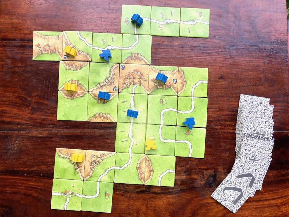 Each session of Carcassonne usually lasts about an hour, but each turn is pretty quick.