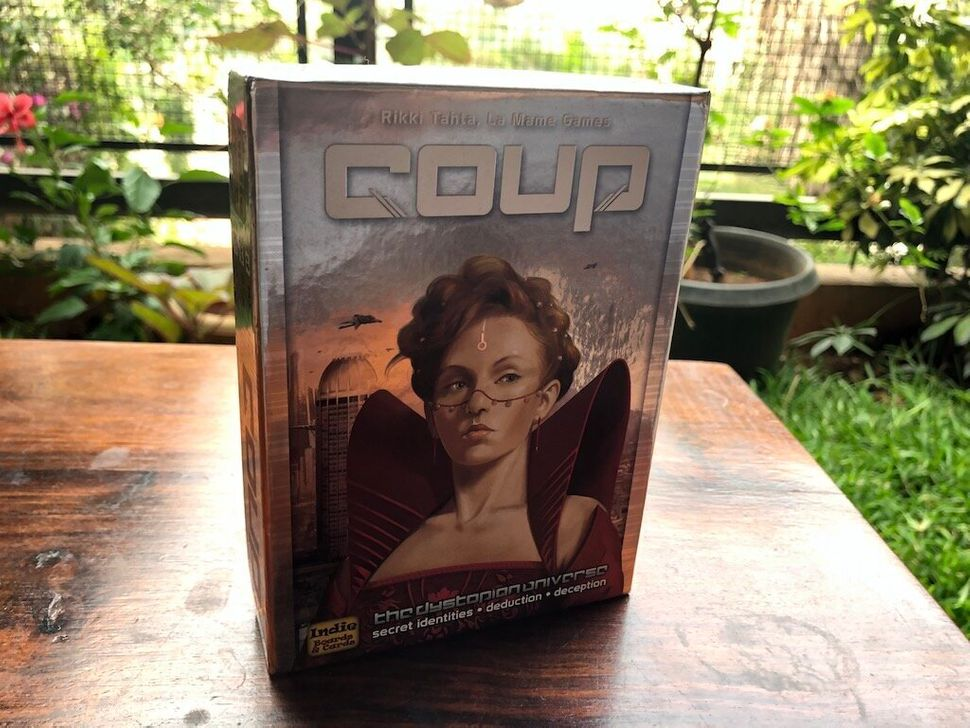 Coup is a more strategic game than One Night Ultimate Werewolf, but is again based on the idea that the other players don't know what cards you've got.