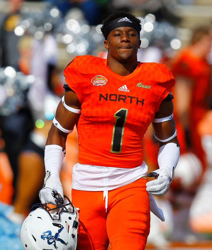 Defensive back Corey Ballentine is seen here at the Senior Bowl college football game in January in Mobile, Alabama. An NFL p