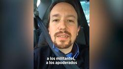 El vídeo de Pablo Iglesias de camino al Teatro
