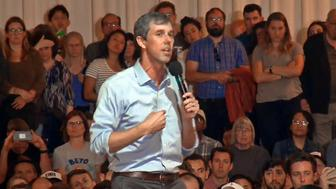 Democratic candidate for president, Beto O'Rourke, was in San Francisco to speak to supporters at the Irish Center in the Outer Sunset. (4-28-19)