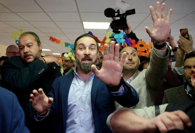 Santiago Abascal, tras conocerse los resultados de las