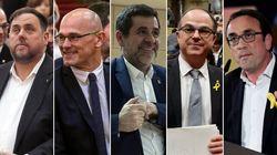 Cinq séparatistes catalans emprisonnés ont été élus aux législatives en