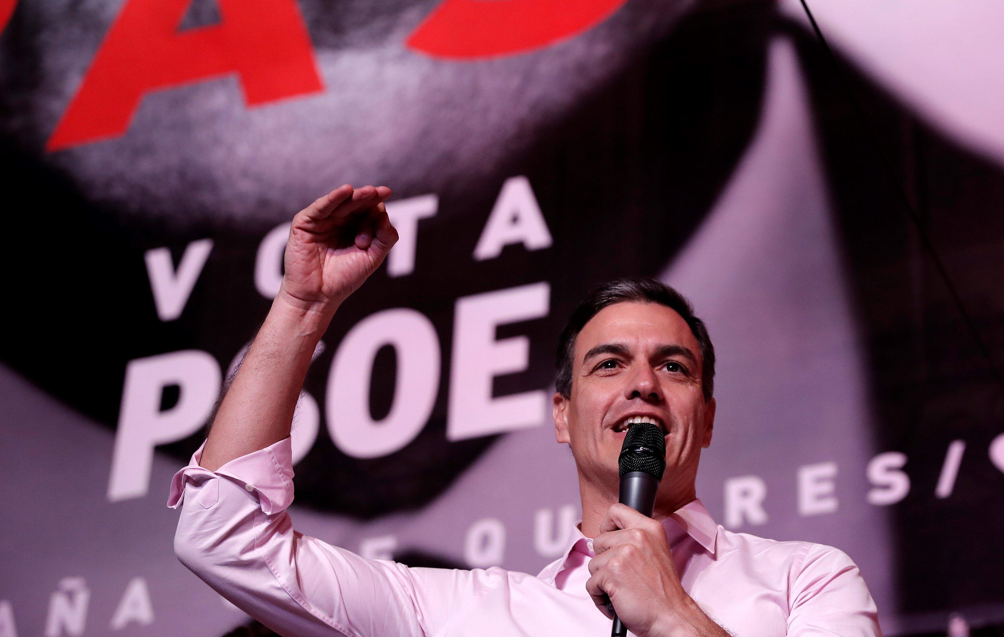 스페인 총선에서 중도좌파 사회노동당이