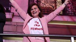 Esta es la camiseta que llevó Carmen Calvo en la celebración del