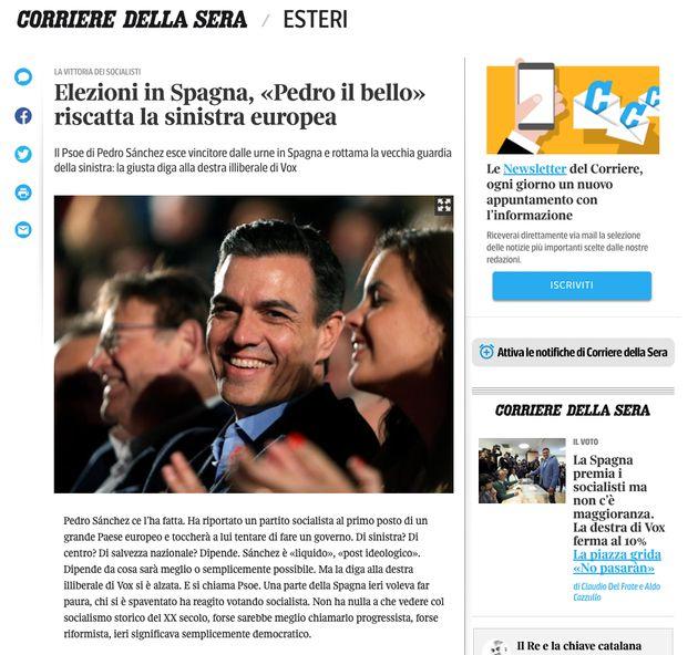 La prensa internacional destaca la resistencia de Sánchez y el fin de la