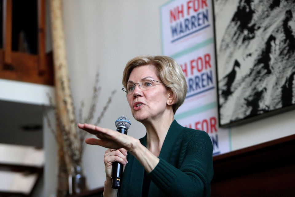 엘리자베스 워렌은 당선 가능성에 대한 질문을 가장 많이 받는 민주당 대선주자 중