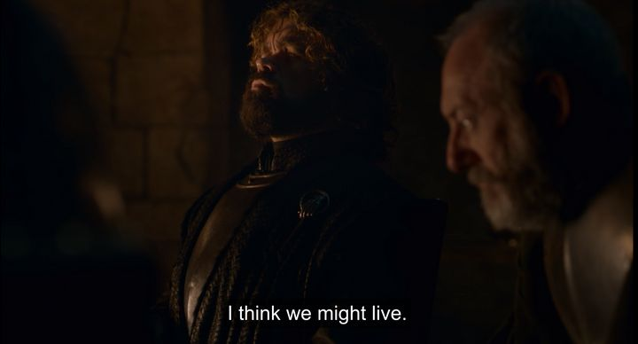 Tyrion after talking with Bran.