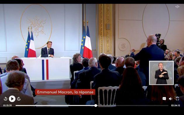 Emmanuel Macron, Narcisse du grand débat