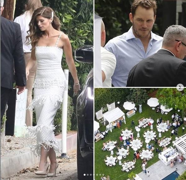 Άγγελος ντυμένος στα λευκά η ΚάθρινΣβαρτσενέγκερ στο πάρτι που έγινε με αφορμή το γάμο