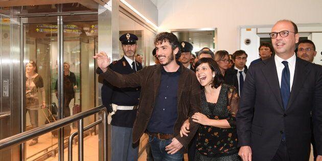 Foto LaPresse - Massimo Paolone24/04/17 Bologna (Italia)CronacaArrivo Gabriele Del Grande Aeroporto Marconi...