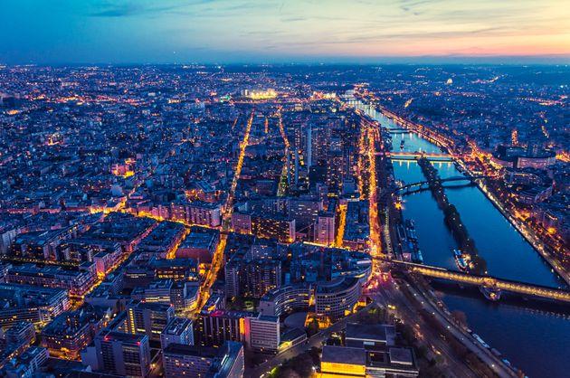 Paris view from Eiffel