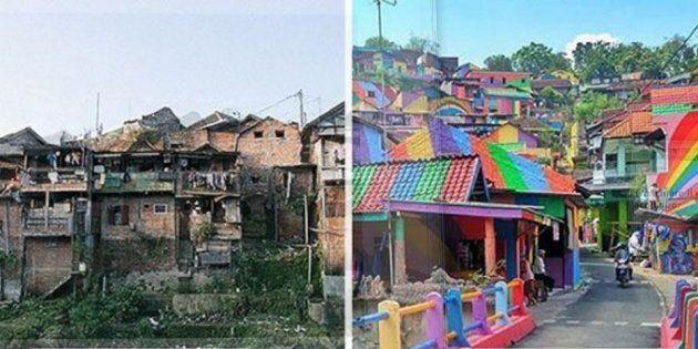 Questo villaggio indonesiano ha speso 20mila euro per trasformarsi da baraccopoli in opera