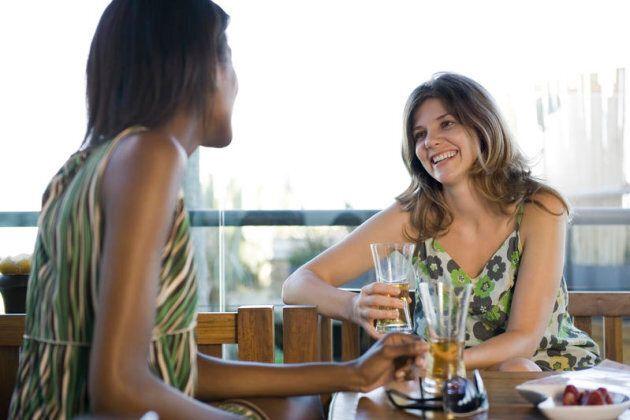 Friends having drinks together Friends having drinks