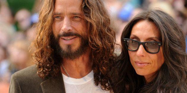 Chris Cornell and wife Vicky Karayiannis (Photo by Jason Merritt/Getty