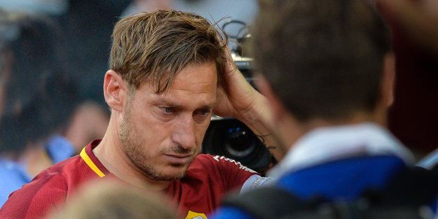 Francesco Totti during the Italian Serie A football match between A.S. Roma and F.C. Genoa at the Olympic...