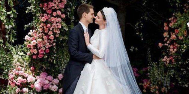 Miranda Kerr pubblica le foto del matrimonio con Evan Spiegel e ricorda Grace