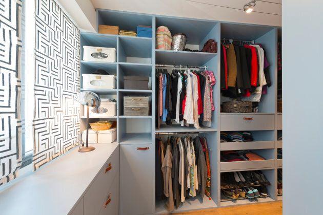Big beautiful walk in wardrobe. Luxury modern