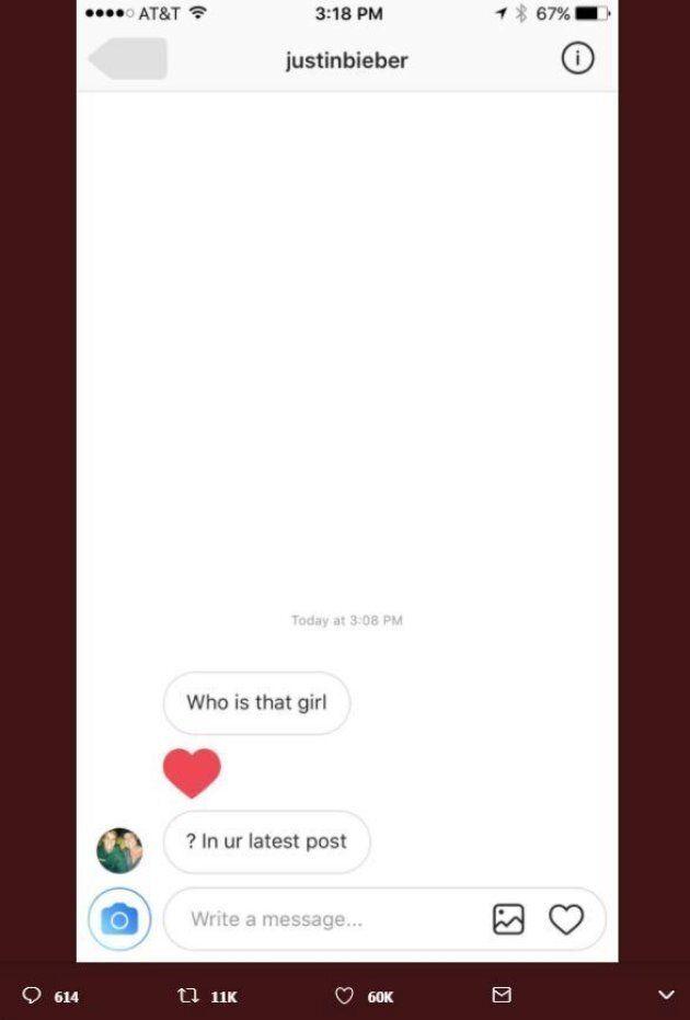 Justin Bieber ci prova su Instagram con una personal trainer sconosciuta, ma lei gli risponde di