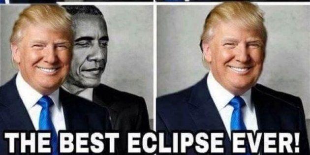 Trump ha ritwittato orgoglioso questo fotomontaggio (ma forse non ne ha compreso il