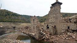 A causa della siccità un borgo spagnolo è riemerso dalle acque dopo 60