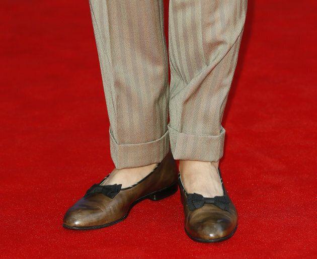 VENICE, ITALY - SEPTEMBER 01: Lapo Elkann, shoe detail, attends the The 1st Franca Sozzani Award during...