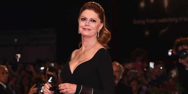 VENICE, ITALY - SEPTEMBER 03: Susan Sarandon walks the red carpet ahead of the 'The Leisure Seeker (Ella...