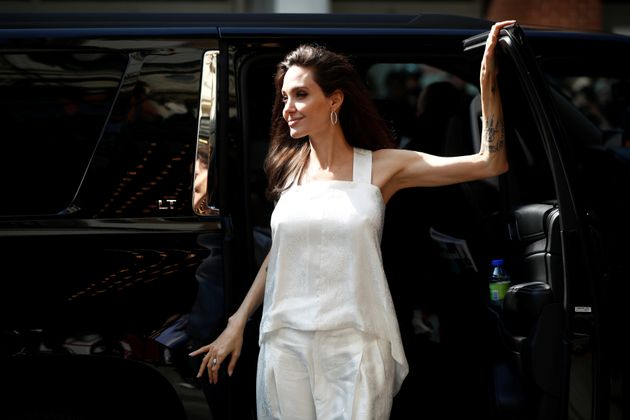 Executive producer Angelina Jolie arrives on the red carpet for the film