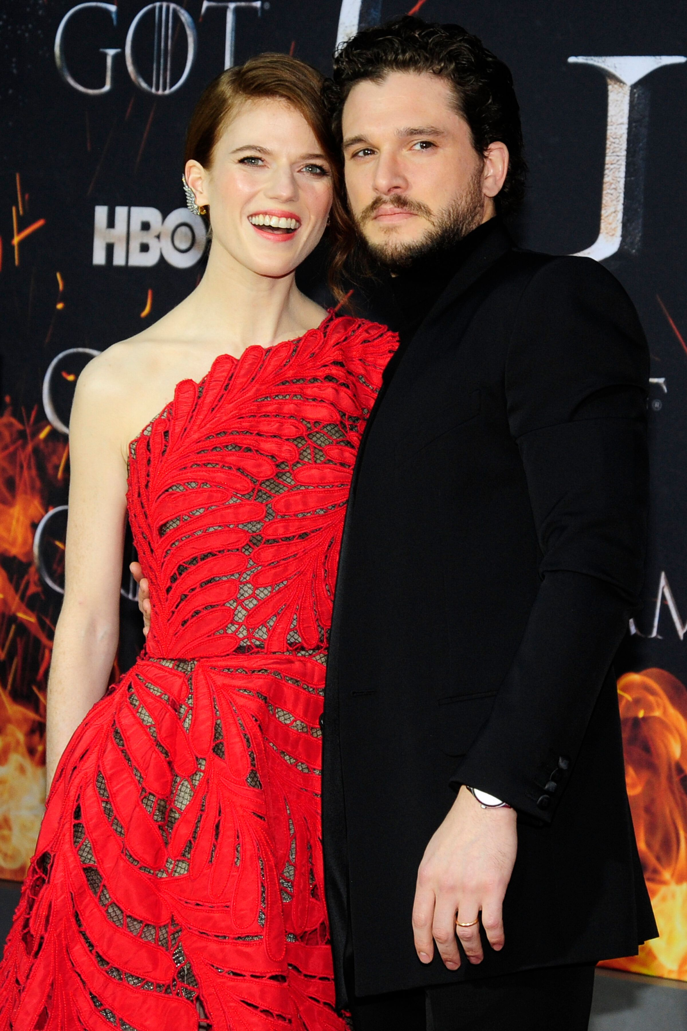 "NEW YORK, NY - APRIL 3: Rose Leslie and Kit Harrington attend ""Game Of Thrones"" New York Premiere at Radio City Music Hall, NYC on April 3, 2019 in New York City. (Photo by Paul Bruinooge/Patrick McMullan via Getty Images)"