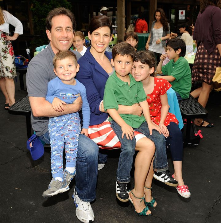 The Seinfeld family at an event in Central Park in 2009.