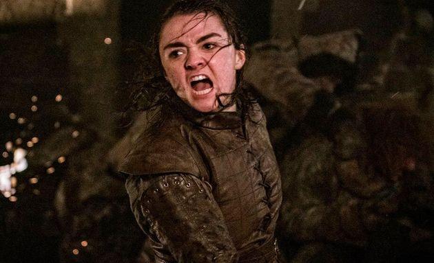 Arya (Maisie Williams) em uma das cenas do episódio de