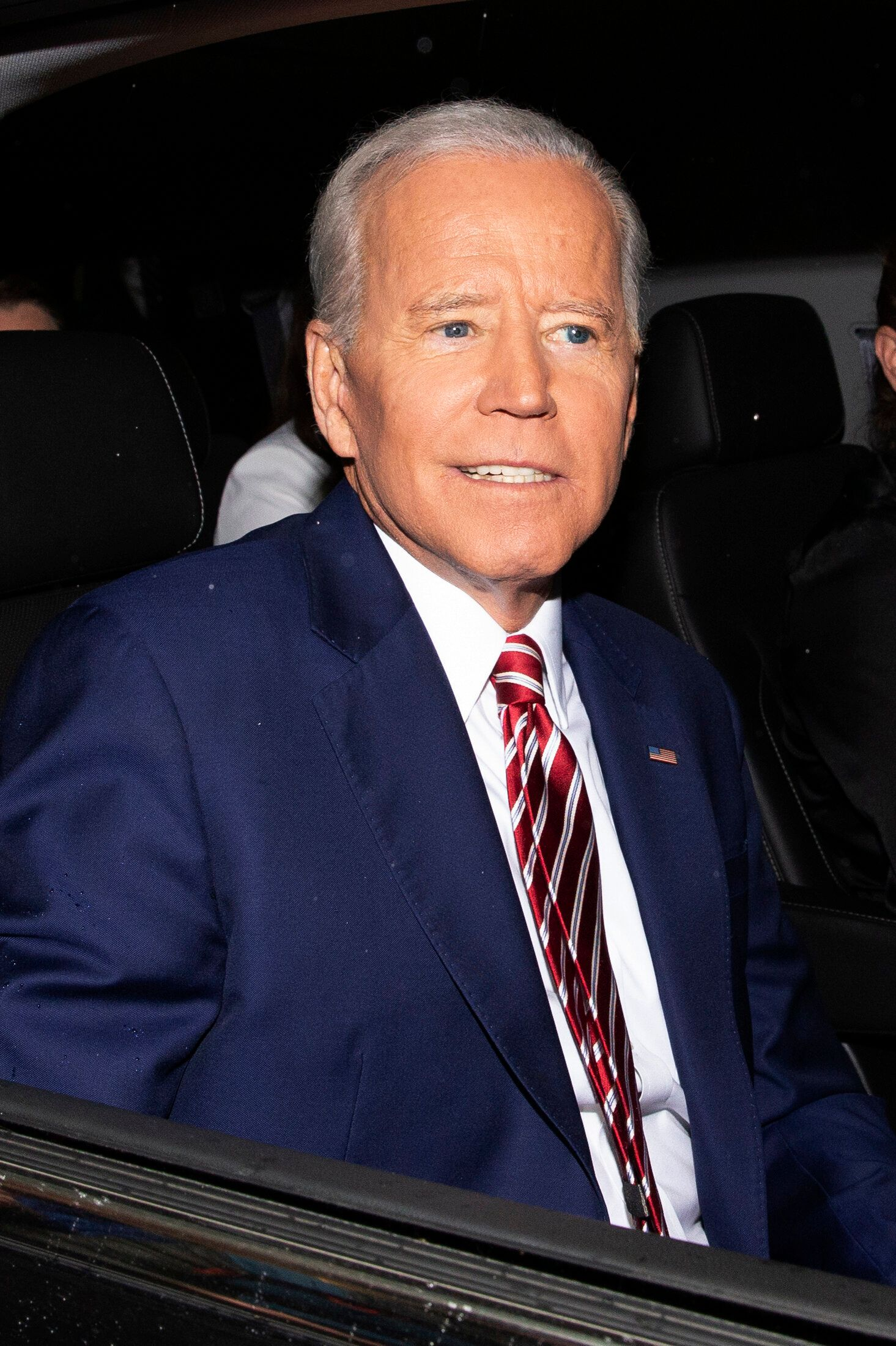 "Former Vice President and Democratic presidential candidate Joe Biden is shown after appearing on ABC's ""The View"", Friday, April 26, 2019 in New York.  Biden says he has no plans to limit himself to one term if he's elected president in 2020. (AP Photo/Eduardo Munoz Alvarez)"