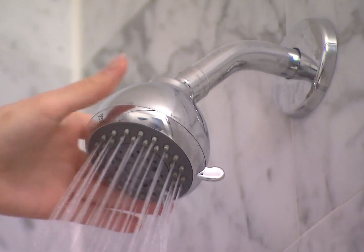 dirty shower head