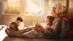 As mágicas fotos de avós com netos que vão te