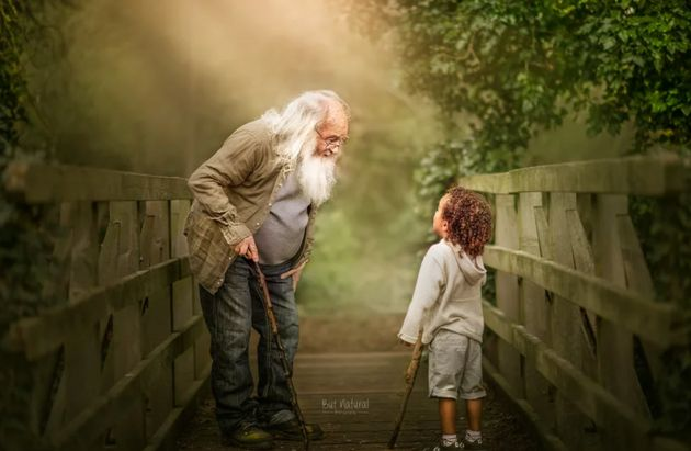 A granddad and his grandson share a special