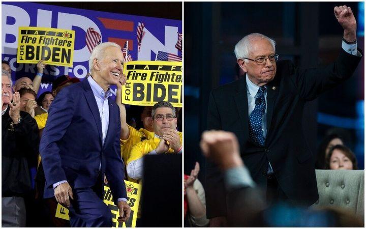 Former Vice President Joe Biden and Sen. Bernie Sanders (I-Vt.), the leading candidates for the Democratic presidential nomin