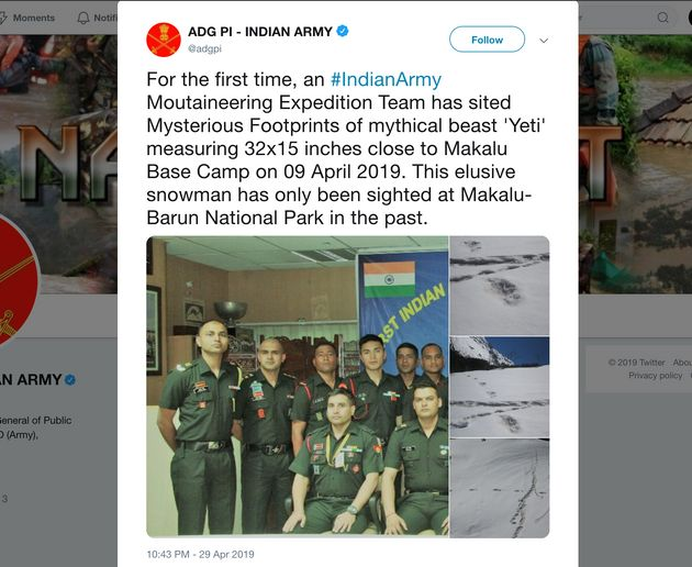 Indian Army Claims To Have Found Yeti Footprints, Gets Massively Trolled On