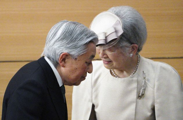 Japan's Emperor Akihito and Empress