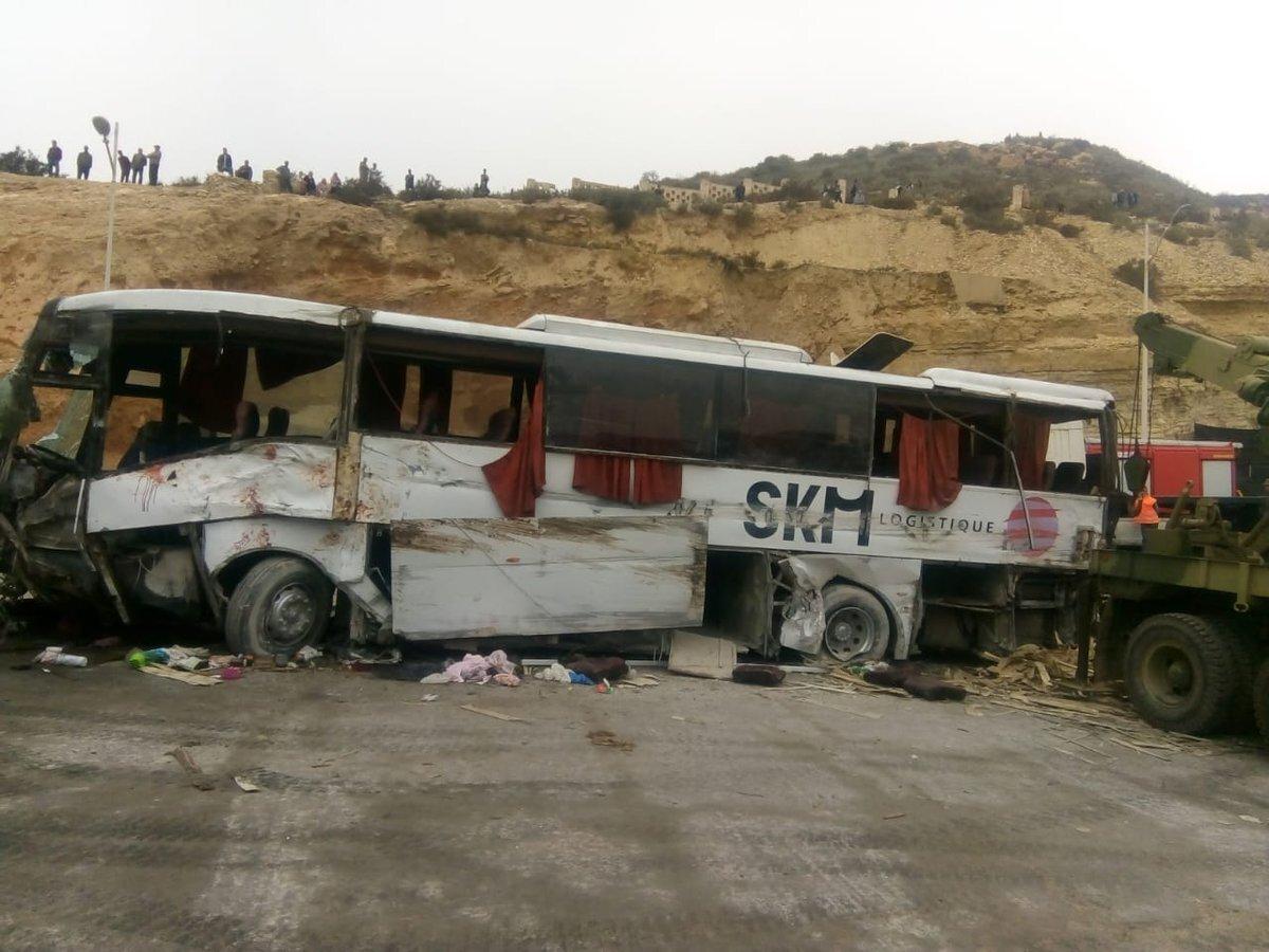 Au moins 2 morts dans un accident de la route près